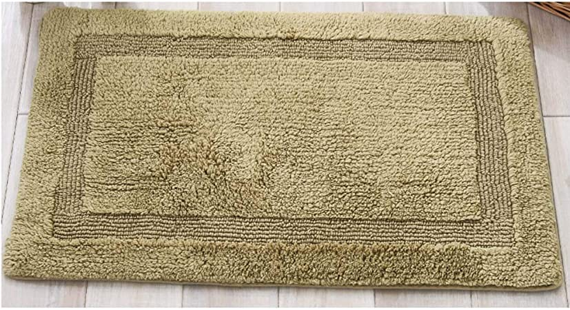 Felpudo para entrada de casa, lavable, felpudo de exterior, moderno de algodón chenilla simple para casa, cocina, salón, dormitorio, alfombra de baño, alfombras de cocina modernas 50 * 80CM verde: Amazon.es: Hogar