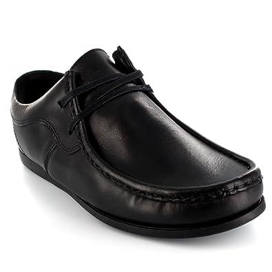 Hombre Ikon River Original Wallabee Mocasines Cordones Cuero Zapatos - Negro - 46: Amazon.es: Zapatos y complementos