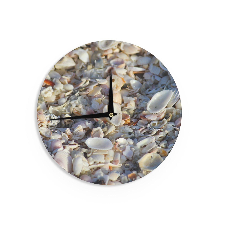12-Inch Kess InHouse Philip Brown Seashells On The Beach Coral Nature Wall Clock