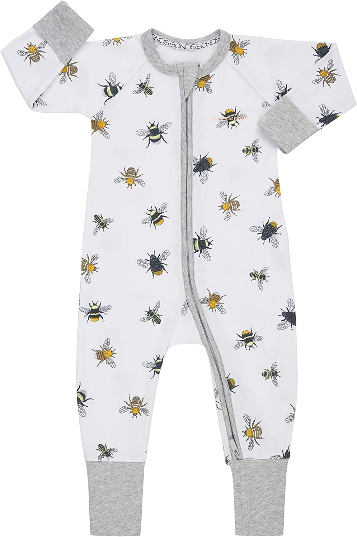 Bonds Zip Wondersuit Bee Kind White