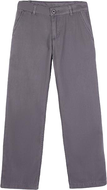 Bienzoe Boys School Uniforms Flat Front Twill Bermuda Shorts