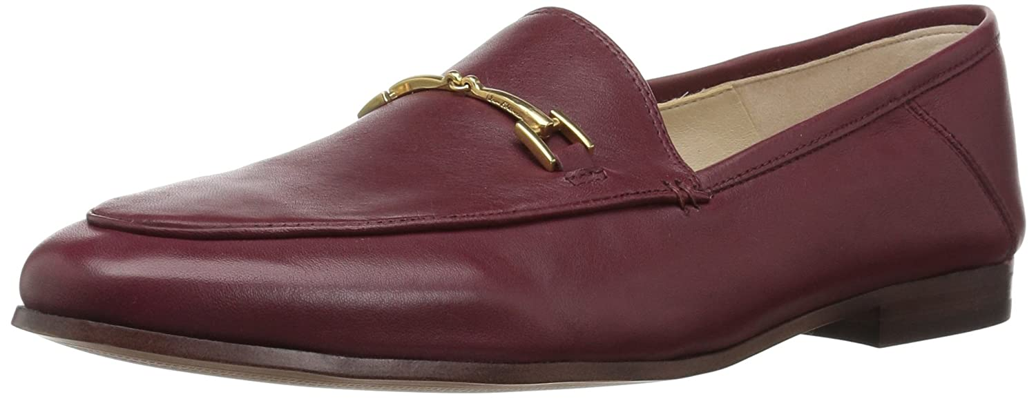 Beet Red Leather Sam Edelman Women's Loriane Loafer Flats