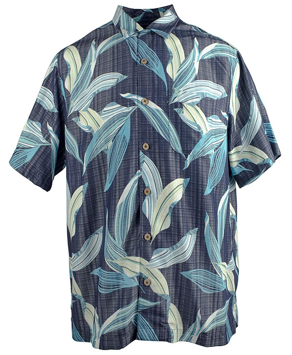 Mens Palm Print Woven Short Sleeve Shirt