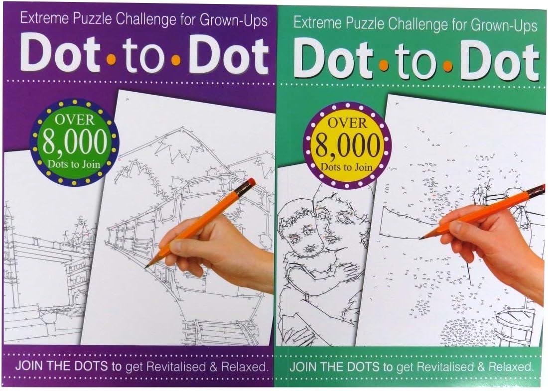 Cuaderno De Dibujo Puzle Extremo De Unir Los Puntos Desafío Para Adultos Colores Variados Amazon Es Oficina Y Papelería