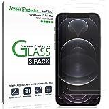 amFilm (3 Piezas iPhone 12 Pro MAX Cristal Templado Protector Pantalla (2020) - Vidrio Templado Mica Protector de Pantalla pa