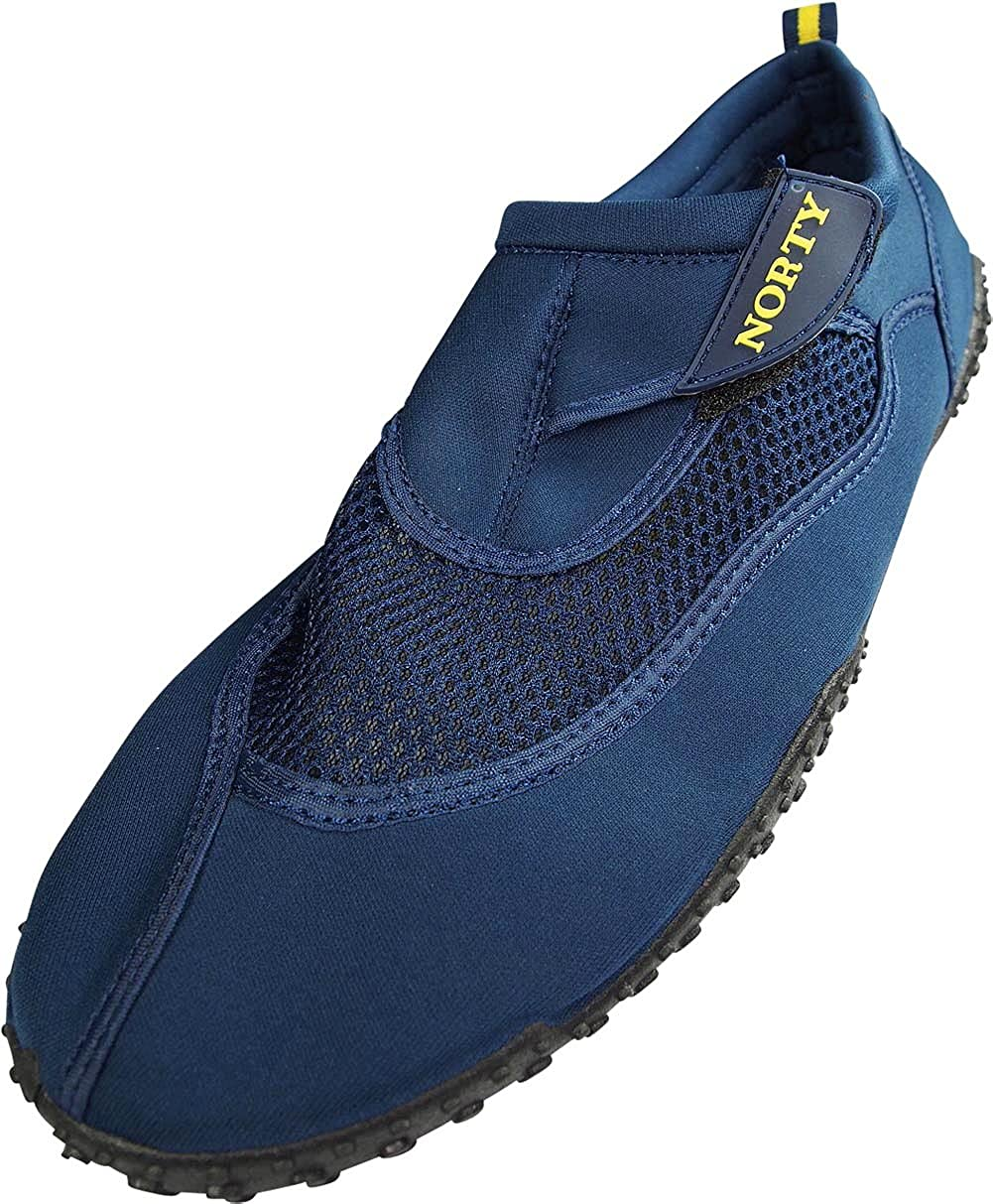 Beach and Sports NORTY Mens Big Sizes 13-15 Aqua Sock Wave Water Shoes Waterproof Slip-Ons for Pool