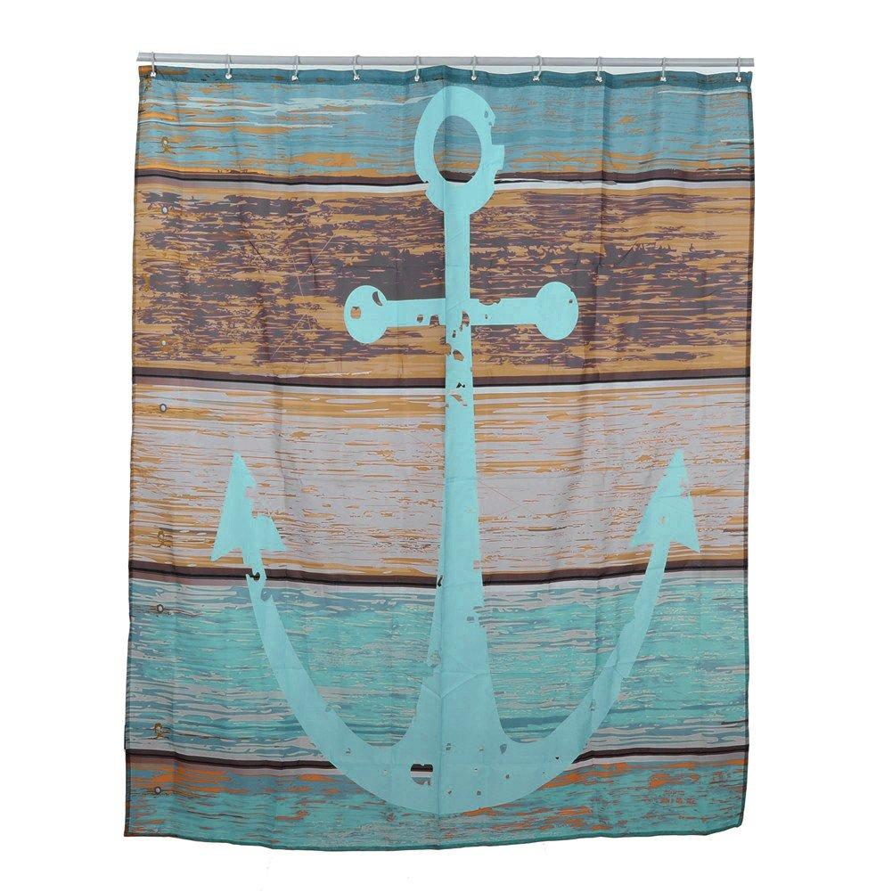 aihome Maritim Anker Stoff Badezimmer Dusche Vorhang Liner Polyester ...