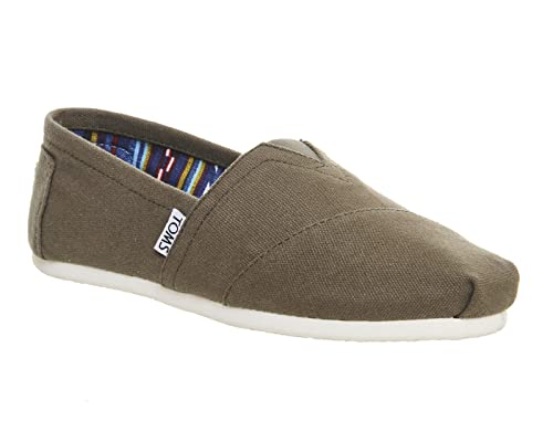 TOMS - Mocasines de Lona para Mujer, Color Verde, Talla 5: Amazon.es: Zapatos y complementos