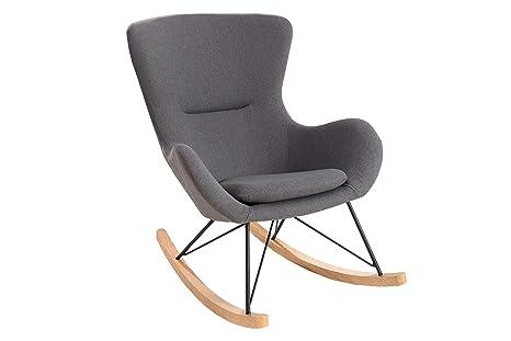 Sedie A Dondolo Design.Dunord Design Sedia A Dondolo Skive In Legno E Metallo