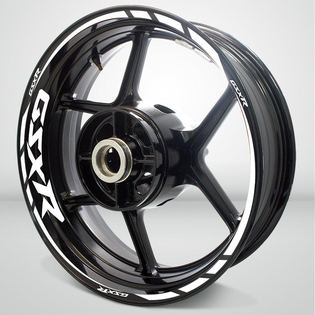 Gloss White Motorcycle Rim Wheel Decal Accessory Sticker For Suzuki GSX R