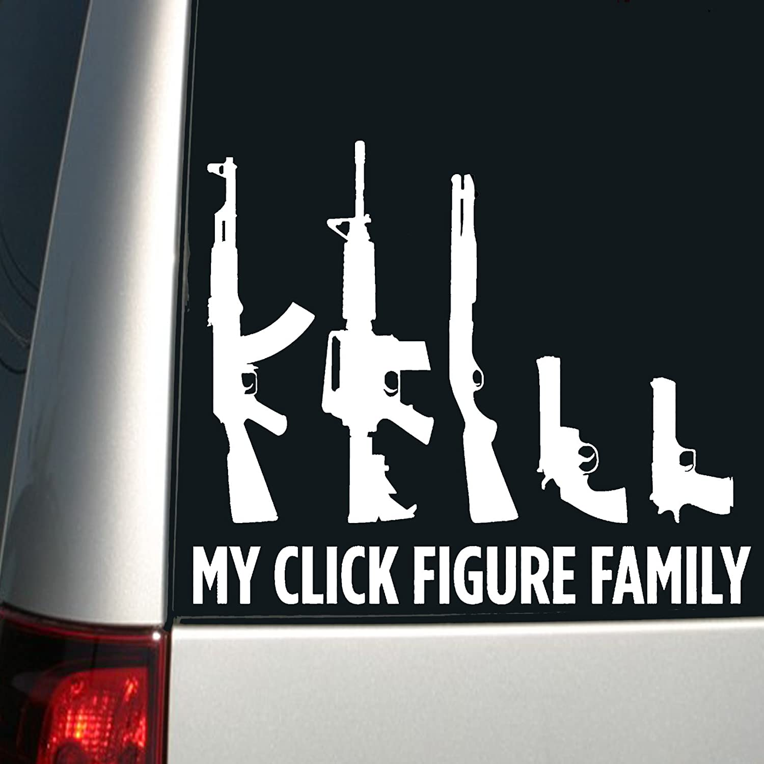 Car Family Stickers With Guns