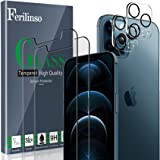Ferilinso 2 Pack Screen Protector for iPhone 12 Pro Max with 2 Pack Camera Lens Protector [Tempered-Glass] [Military Protecti