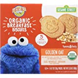 Earth's Best Organic Sesame Street Toddler Breakfast Biscuits, Golden Oat, 5 Count, (Pack of 6)