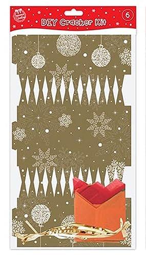 8 kraft scandinavian nordic christmas make your own crackers kit make your own gold christmas crackers pack of 6 solutioingenieria Gallery