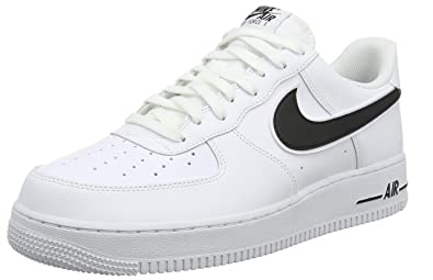 competitive price 89128 58e7d Nike Men s Air Force 1  07 3 Basketball Shoes, White Black, Size