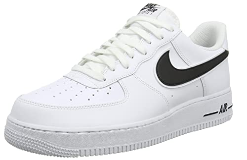sale retailer 81236 b8fc7 Nike Herren AIR Force 1  07 3 Basketballschuhe Weiß (White Black 101)