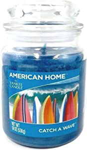 Yankee Candle 420277 Scented Fragrance Candles American Home Collection Luxury Classic Large 19oz Glass Jar 538g[Catch A Wave], Youth 11-13, Blue