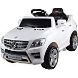 6v Licensed Mercedes ML350 Kids Ride-On/Ride-In Car with Parental Control - Red or White (White)