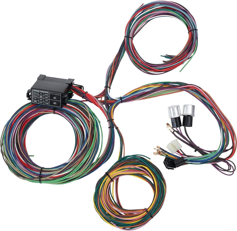 Amazon.com: 12 Circuit Universal Street Rod Wiring Harness w/Detailed  Instructions: Automotive Amazon.com