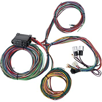amazon com 12 circuit universal street rod wiring harness w Hot Rod Wiring Kits