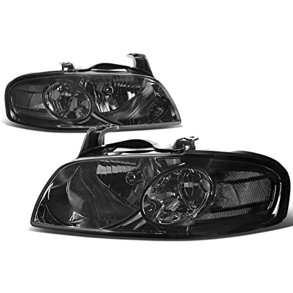 Amazon.com: For Nissan Sentra B15 5th Gen Pair of Smoked Lens Clear Corner Replacement Headlight Lamp: Automotive