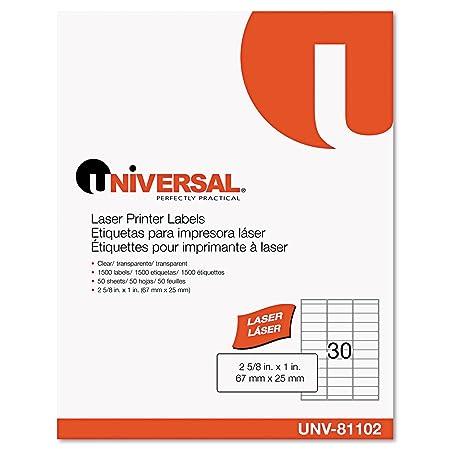 Universal UNV81102 - Etiquetas permanentes de impresora lš¢ser ...