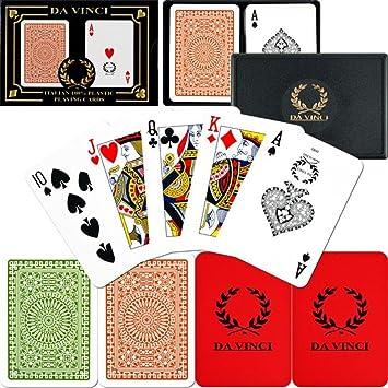 2-Deck Bridge size jumbo index Da Vinci Club Casino Playing Cards