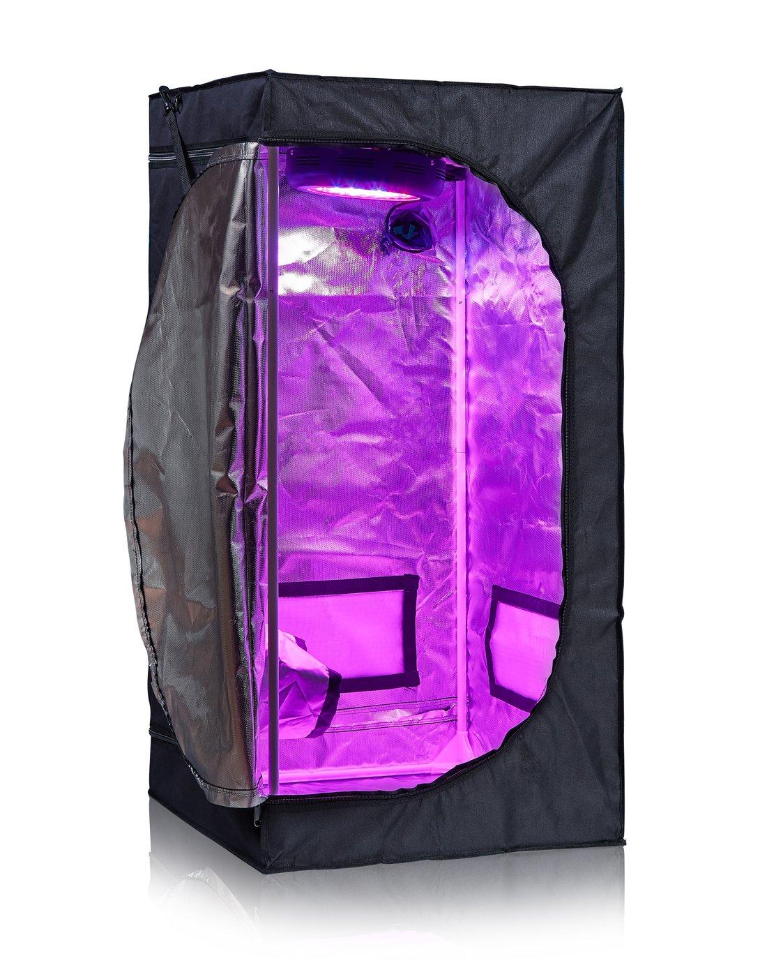 TopoLite 24''x24''x48'' 600D Grow Tent Room Reflective Mylar Indoor Garden Growing Room Hydroponic System Dark Room