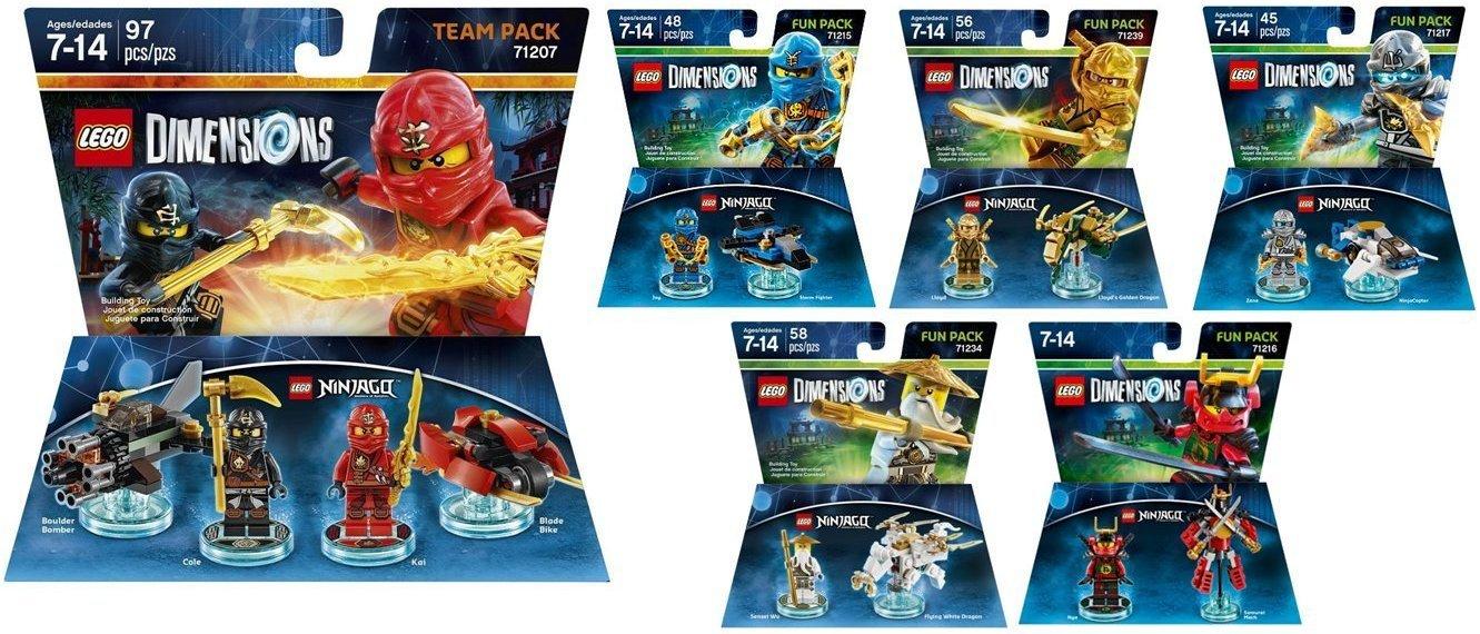 Amazon.com: Lego Dimensions Ninjago Complete Bundle includes 71207 ...