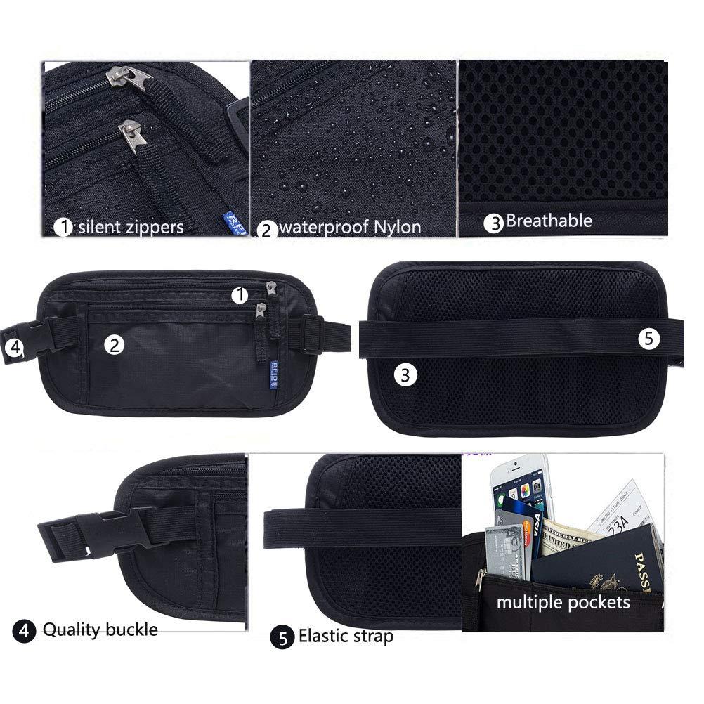 Amazon.com: EVANCARY RFID Fanny Pack Cinturón de Viaje ...