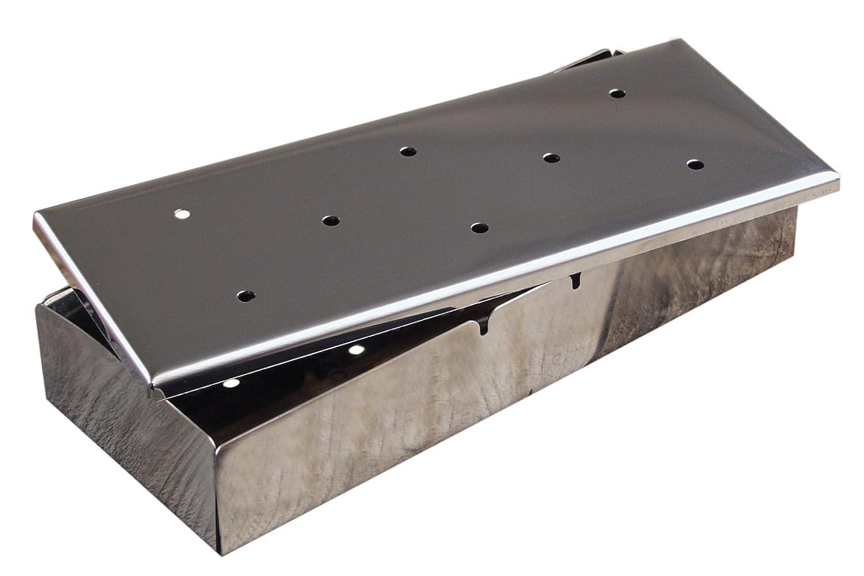 Charcoal Companion CC3021 Platinum Smoker Box with Lid