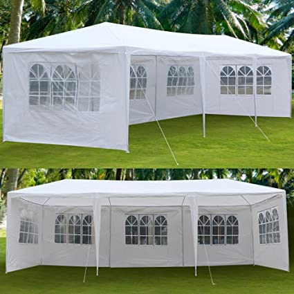 Yaheetech Large Heavy Duty Party Tent 10x30ft for Outdoor Wedding Event Dancing Party Gazebo Canopy with & Amazon.com : Yaheetech Large Heavy Duty Party Tent 10x30ft for ...
