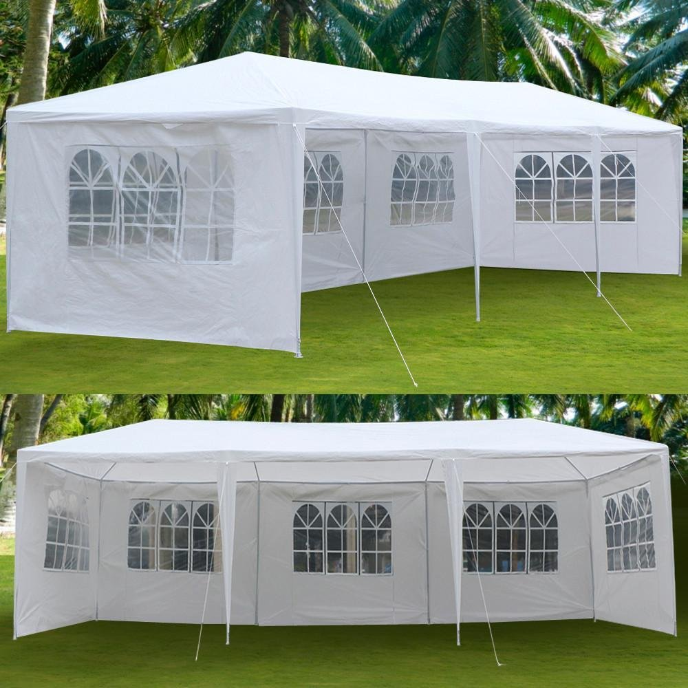 Yaheetech Large Heavy Duty Party Tent 10x30ft for Outdoor Wedding Event Dancing Party Gazebo Canopy with 5 Pcs Removable Side-Walls White