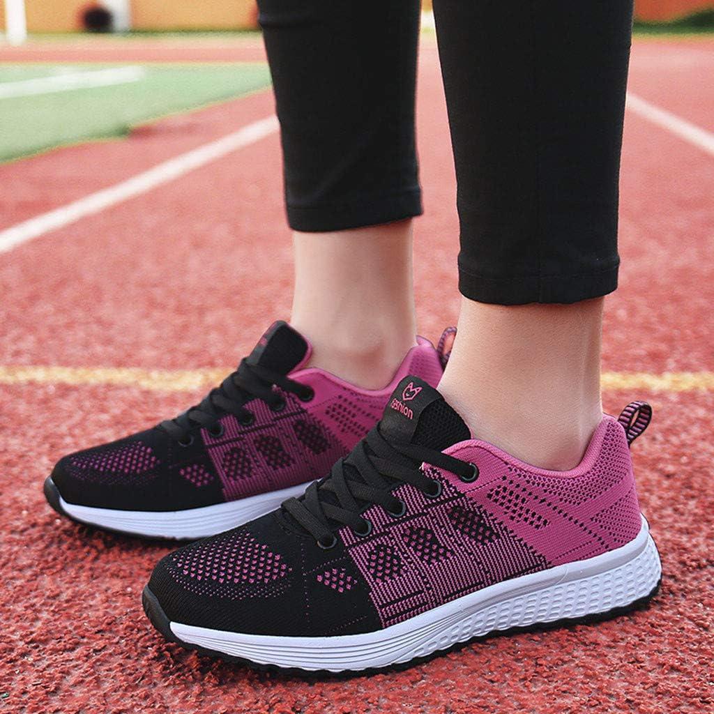 Wyxhkj Zapatillas De Running Para Mujer La Sra. Volando De Malla Tejida Calzado Deportivo Casual Zapatos Inferiores Transpirables Suaves Zapatillas De Deporte: Amazon.es: Ropa y accesorios
