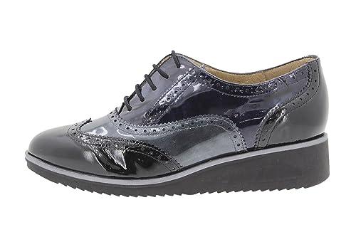 Calzado Mujer Confort de Piel Piesanto 9621 Zapato Cordón Cómodo Ancho VFRH0x