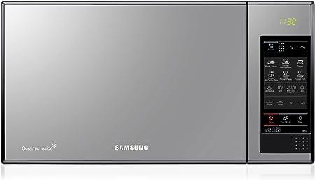 Oferta amazon: Samsung GE83X Microondas con Grill, 23 Litros de Capacidad, Interior Cerámico Enamel, Potencia 800W/1200W, 6 niveles de potencia, Color Acero Espejo           [Clase de eficiencia energética A+]