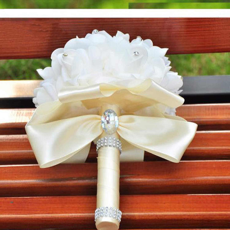 9e49dc441d Lady Night Beautiful Artificial Royal Blue Wedding Bouquet Mint Green  Bridesmaid Bridal Bouquets White Buque De Casamento,Photo Color4 - Silk  Flower ...