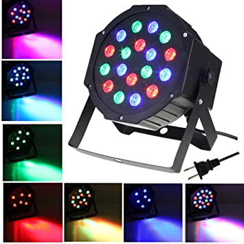 Par Lights SOLMORE DMX-512 RGB 18 LED Party Lights DJ Disco Lights Sound  sc 1 st  Amazon.com & Amazon.com: Par Lights SOLMORE DMX-512 RGB 18 LED Party Lights DJ ... azcodes.com
