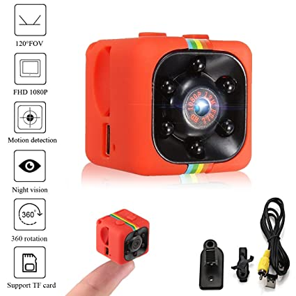 Crazepony-UK Mini cámara Espias SQ11 Camcorder 3.6mm Night Vision FOV140 Mini Camera Spy