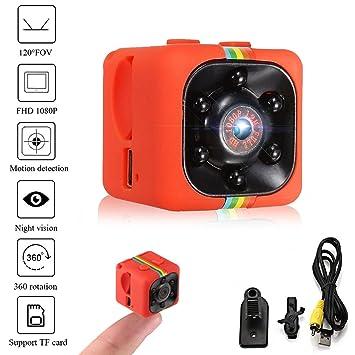 Crazepony-UK Mini cámara Espias SQ11 Camcorder 3.6mm Night Vision FOV140 Mini Camera Spy