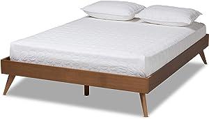 Baxton Studio Bed Frame, King, Brown