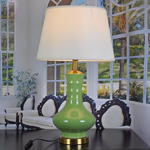 Green Ceramic Table Lamp Living Room Large Table Lamp Green Table Lamp Amazon Co Uk Lighting