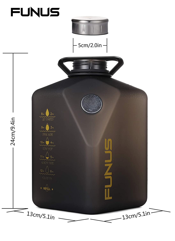 FUNUS Big Water Bottle 2.7L Odorless Water Jug BPA Free Leak Proof Reusable Big Capacity for Men Women Fitness Gym Outdoor Climbing 91 oz