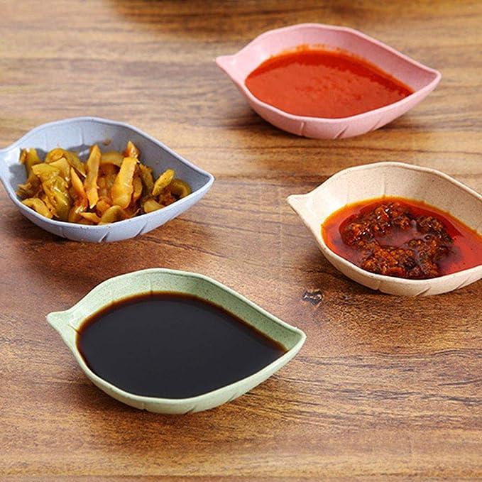 Winice - Platos para Salsa de Soja (6 Unidades), Color Beige: Amazon.es: Hogar