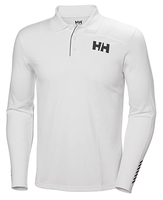 Helly Hansen LIFA Active Light LS Polo Blanco - Ligero de Dry ...