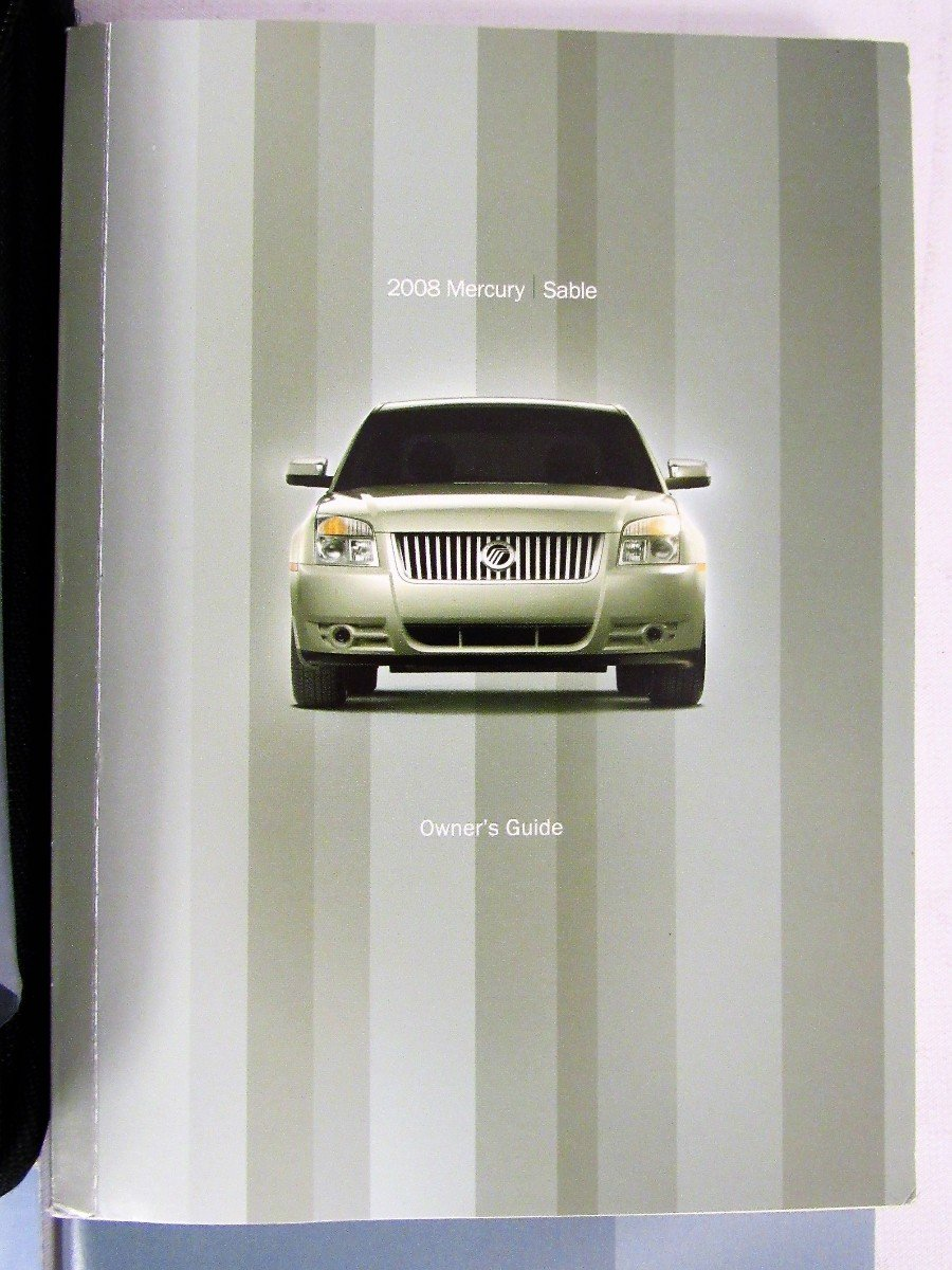 2008 mercury sable owners manual guide book amazon com books rh amazon com 2007 Mercury Sable 2009 Mercury Sable
