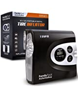 Tire Inflator - 12V Air Compressor Pump (2018 Model) - 150PSI - Portable And Easy To Use - Perfect For Car, Bike And Sporting Equipment By FamilyTool Automotive (150PSI V2)