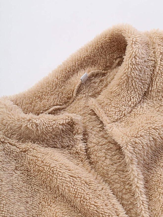 BaZhaHei-Chaqueta de Mujer, Blusa, Abrigo de Invierno de la Chaqueta de la Capa mullida de la Moda de Las Mujeres Abrigo de Abrigo Outwear de la Camisetas ...