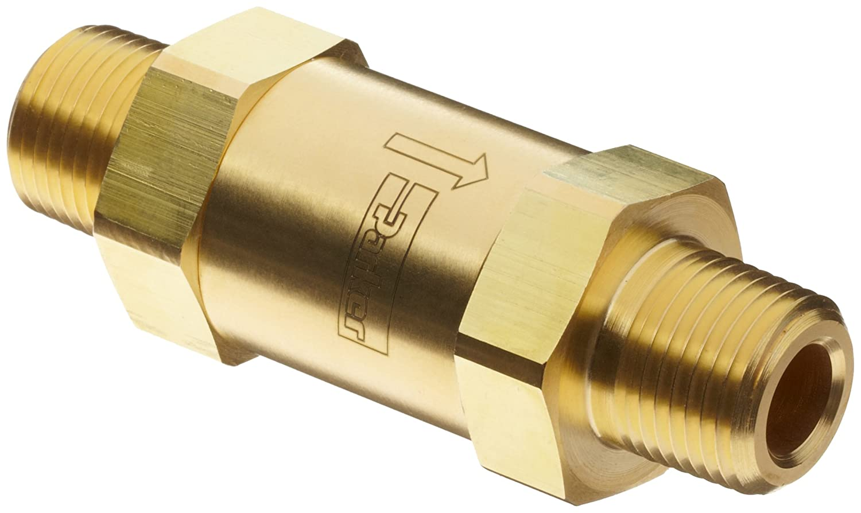 1//8 NPT Male 5 psi Cracking Pressure Parker C Series Brass Check Valve