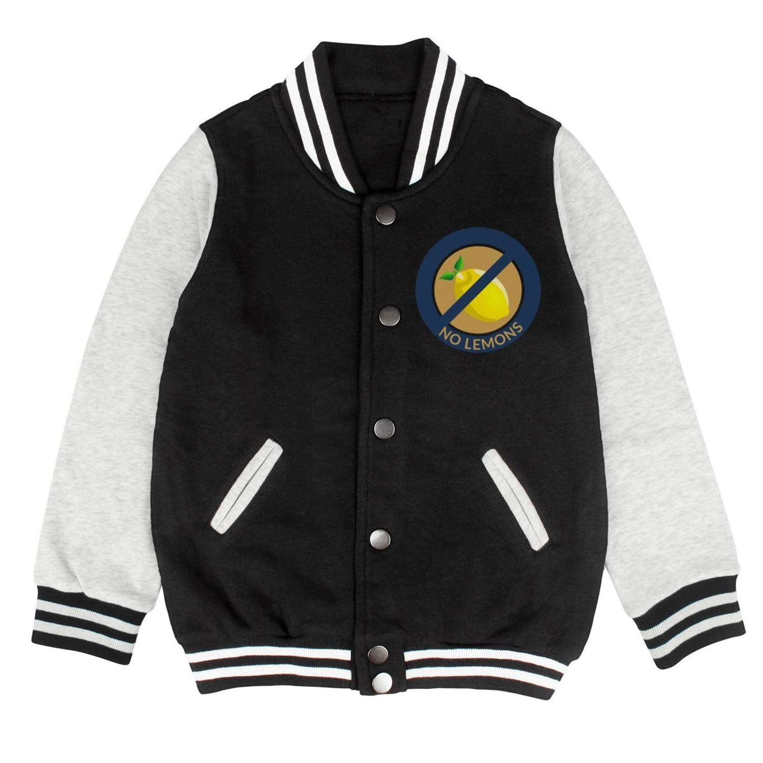 Colorful Lemon Silhouette Baseball Pullovers Unisex Cool Fall Jackets for Girls